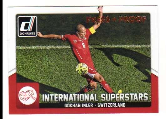 superestrellas Chase Card #18 Gokhan Inler Donruss soccer 2015 Int