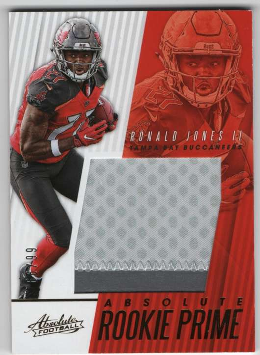 innovative design 62e3e b2324 Details about 2018 Panini Absolute Rookie Prime Jersey Patch /99 Ronald  Jones II Buccaneers