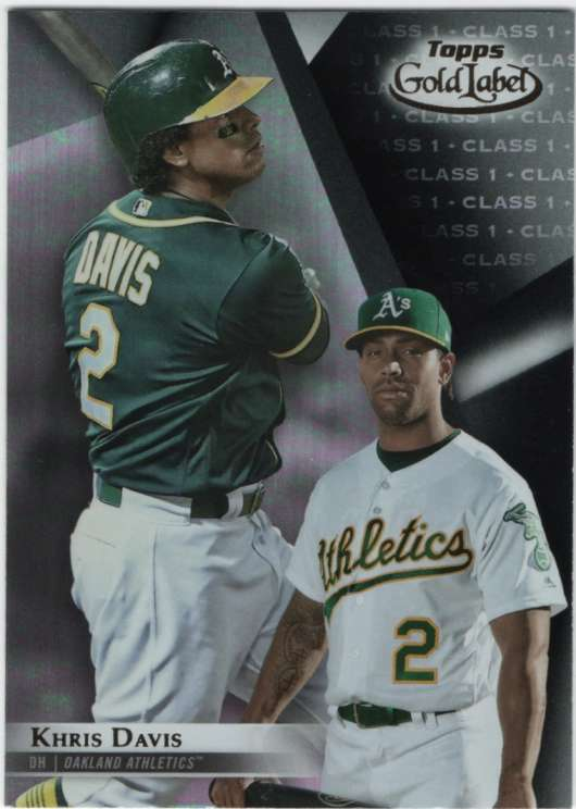 2018 Topps Gold Label Baseball Class 1 Black 76 Khris Davis